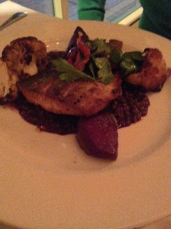 Hamersley's Bistro: Seared Arctic Char with Le Puy Lentils, Roasted Beets