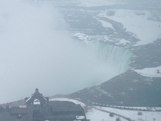 Embassy Suites by Hilton Niagara Falls Fallsview Hotel: Our view from 3603- we see both falls but the American side is tough to see passed all of the mi