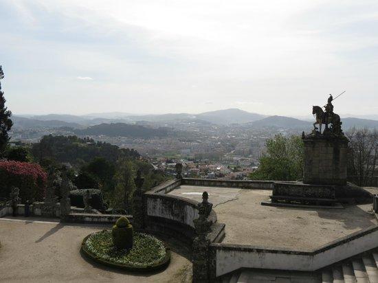 Bom Jesus do Monte: Vista da cidade de Braga