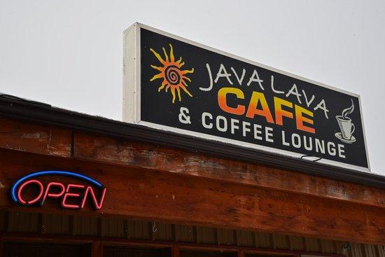 Java Lava Cafe: Sign