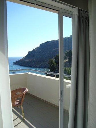 Lindos Mare Hotel: panorama dalla terrazza della camera