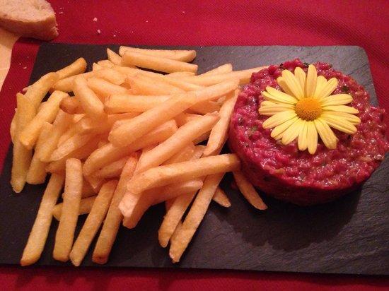 Restaurant Pizzeria La Place : Tartare de bœuf