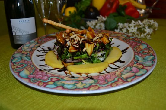 Can Quim Restaurant: ensalada de mango