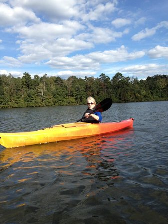 Sandy Creek Park : Kayaking with my mom on Lake Chapman