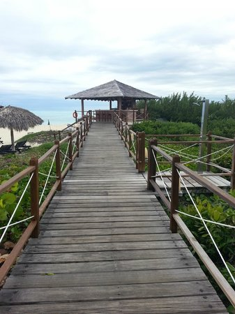 Melia Buenavista: Board walk to swimming beach - beach bar