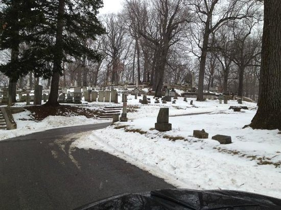 Mount Hope Cemetery : Hill on cemetary grounds