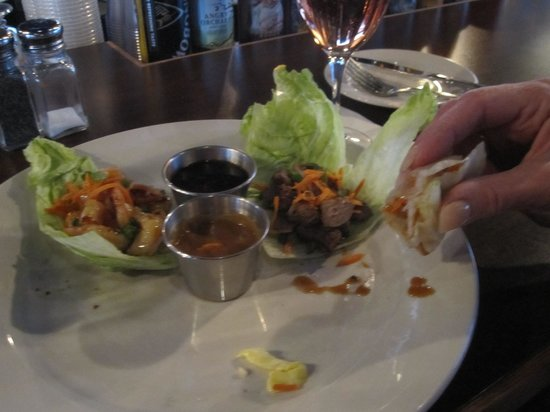 Mustang Tavern: SHRIMP AND BEEF LETTUCE ROLL UPS