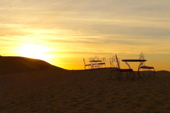 Auberge Sandfisch: l'alba dall'albergo