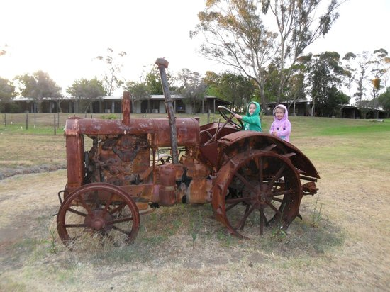 Hunter Valley Resort: Fun on the rusty tractor