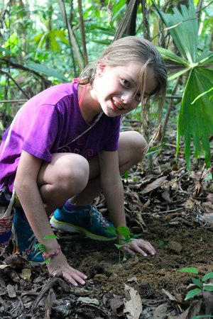 Lapa Rios Ecolodge Osa Peninsula: Planting a tree in the rainforest...must do!