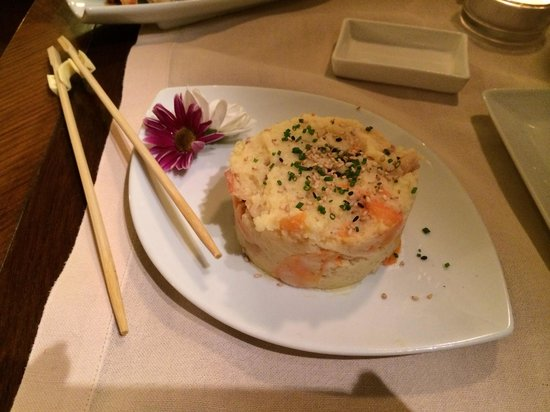 Hana Restaurant : Tortino di patata e gamberi