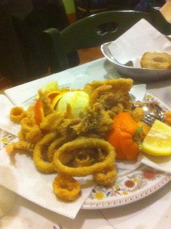 Frittura gamberi e calamari