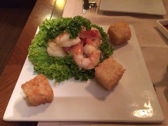 Hana Restaurant: Insalata di gamberi al vapore