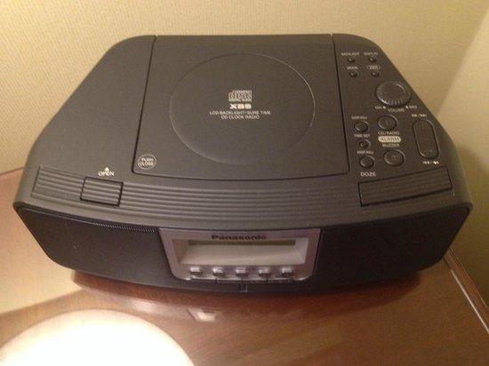 Taj Boston: Radio despertador en el hotel TAJ, muuuy moderno