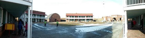 Fort McHenry National Monument : Panoramic view of parade grounds