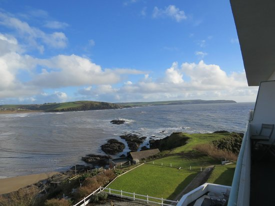 Burgh Island Hotel: View from room