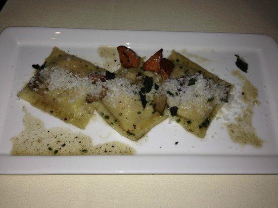 MK The Restaurant : Butternut squash ravioli