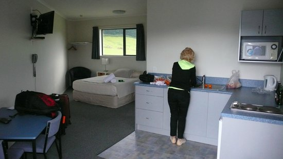 Linkwater Motel & Backpackers: kitchenette