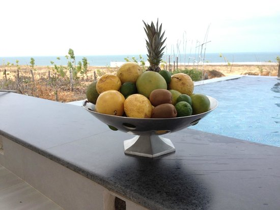 The Chili Beach Boutique Hotel & Resort: the swimming pool and the ocean