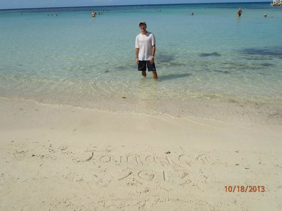 Luxury Bahia Principe Runaway Bay Don Pablo Collection: My husband at the beach