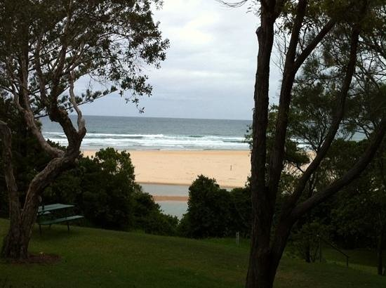 Sawtell Beach Holiday Park: view from cabin