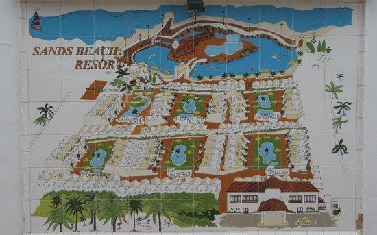 Sands Beach Resort: Planübersicht der Bungalowanlage