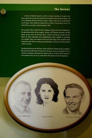 The Heart of Cape Town Museum: Auch an die Spenderin und ihre Familie wurde gedacht.