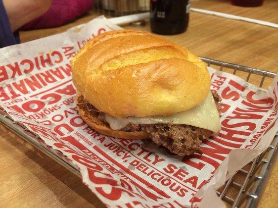 Smash Burger: Truffle Mushroom Swiss Burger