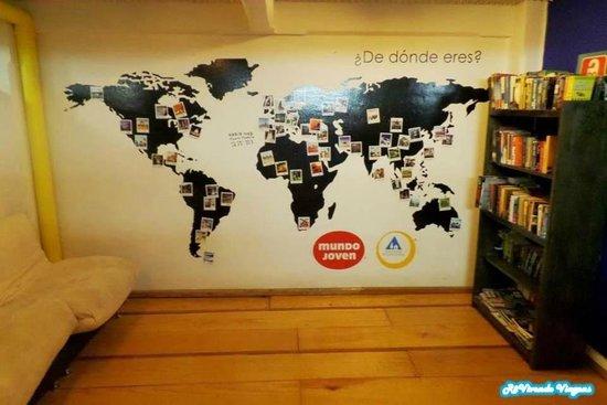 Hostel Mundo Joven Catedral: Área comum