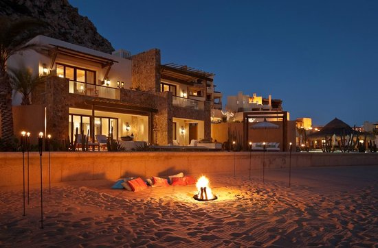 The Resort at Pedregal: Bon fire on Capella Beach