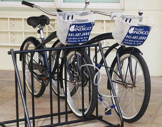 Hotel Indigo Sarasota : Hotel bikes with places to ride.