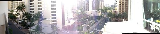 The Imperial Hawaii Resort at Waikiki: pano of viewf rom balcony in room 807