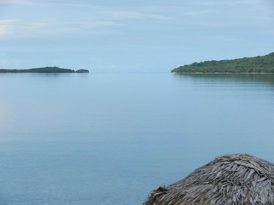 The Havannah, Vanuatu : View out to harbour from our villa