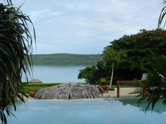 The Havannah, Vanuatu: Looking out from our villa