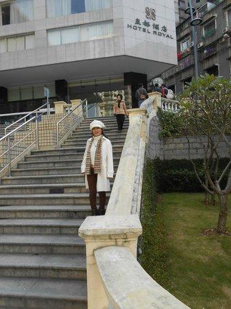 Hotel Royal Macau : ホテルからバスコダガマ公園へ下りる階段