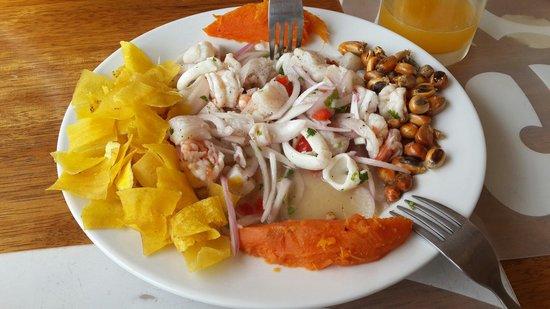 Puerto Palos: ceviche mixto