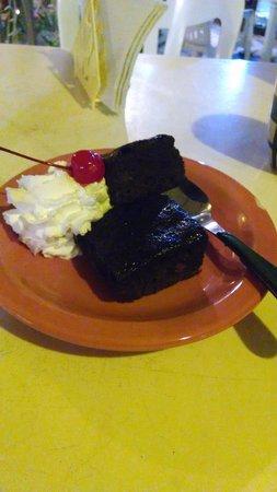 Hotel Gutierrez: brownie de restaurante
