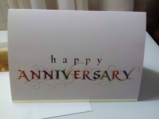 Durham Marriott City Center : Anniversary Card from the staff
