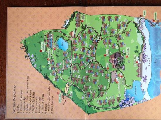 Hotel Map Picture of Santhiya Koh Phangan Resort Spa Ko Pha