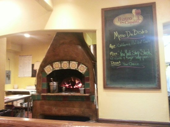 Bistro Des Copains : One of the wood fired ovens.