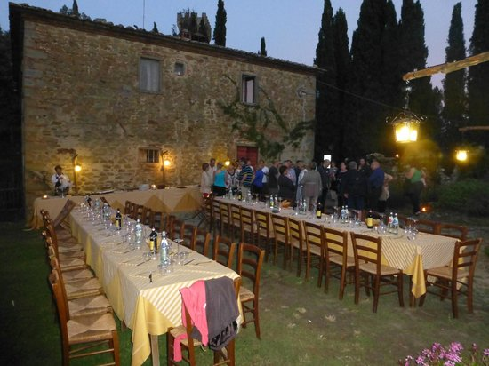 Il Castello di Gargonza: Welcoming Dinner In AIA Garden