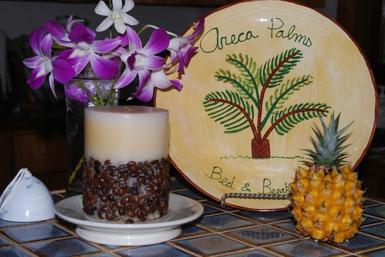 Areca Palms Estate Bed and Breakfast : Guest Diana gift plate