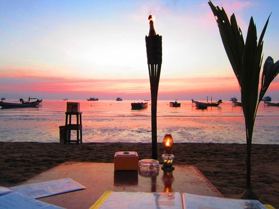 Big Blue Restaurant: Sunset - beautiful