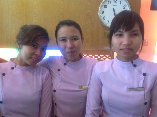 Smart Hotel: Khaing Khaing on right is very helpful
