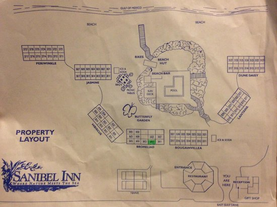 Map of Sanibel Inn property