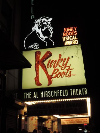 Kinky Boots on Broadway: Sign atop the Theatre