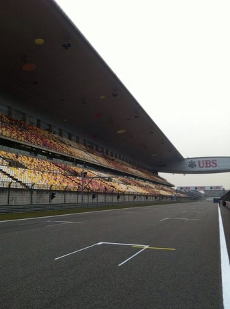 Shanghai Circuit: Main stand from home streat