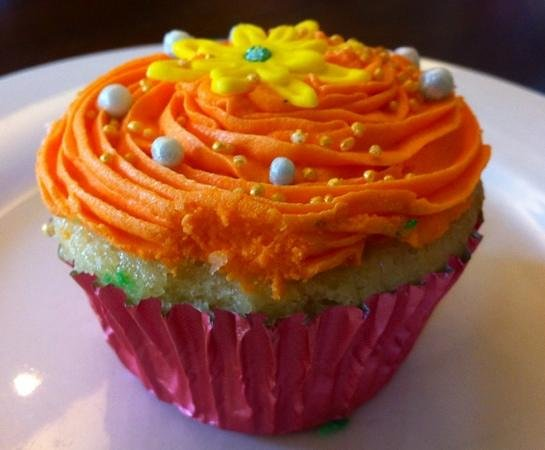 Bumbak Coffee: Vanilla cupcake