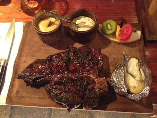 Barbeque Castell: T-Bone Steak with Baked Potato