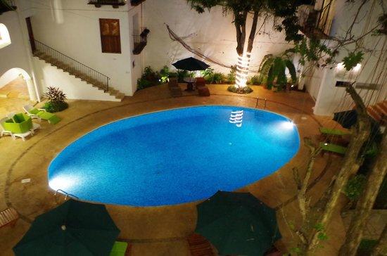 El Meson del Marques : La piscine vue de notre chambre